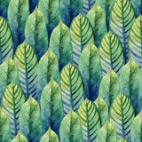 Watercolor heliconia pattern stock illustration