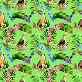 Watercolor holiday colorful ribbons pattern bow greeting. Royalty Free Stock Photo
