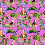 Watercolor holiday colorful ribbons pattern bow greeting. Stock Photo