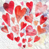 Watercolor holiday heart Royalty Free Stock Photos