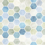 Watercolor Honeycomb  seamless pattern.Vector Stock Photos