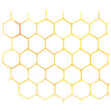 Watercolor Honeycomb on white Stock Photos