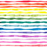 Watercolor horizontal stripes seamless pattern. Striped colorful vector background Royalty Free Stock Image