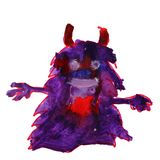 Watercolor horny hairy monster drawing cartoon style isolated on. A white background Royalty Free Stock Images