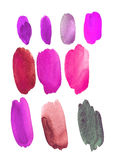 Watercolor hot palette Stock Photos