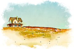 Watercolor of a house Royalty Free Stock Photos