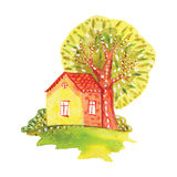 Watercolor house Royalty Free Stock Image