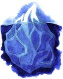 Watercolor iceberg. Isolated illustration. On white background Royalty Free Stock Images