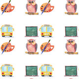 Watercolor icons School and education Stock Photo