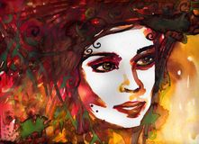 Watercolor illustration Stock Photography