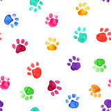 Watercolor illustration with animal footprints Royalty Free Stock Photos