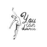 Watercolor illustration ballerina icon in dance. Design poster ballet school, studio Stock Image