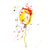 Watercolor illustration of a balloon on a white background. Vector Royalty Free Illustration