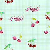 Watercolor illustration of berries. A watercolor illustration of different berries. Backgrounds and wallpapers for different projects Stock Images