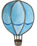 Watercolor illustration. balloon flying transport