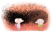 Watercolor illustration of boy and girl in love royalty free stock photos