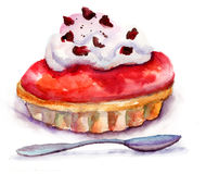 Watercolor illustration of cake Royalty Free Stock Images