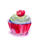 Watercolor illustration of cake Royalty Free Stock Photos