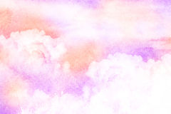 Watercolor illustration of cloud. Stock Image