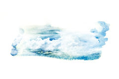Watercolor illustration of cloud. Royalty Free Stock Photos