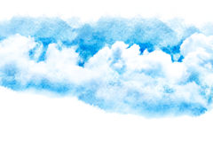 Watercolor illustration of cloud. Royalty Free Stock Photo