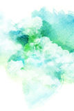Watercolor illustration of cloud. Stock Photography