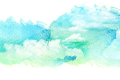 Watercolor illustration of cloud. Royalty Free Stock Images