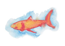 Watercolor illustration of fish Stock Photos