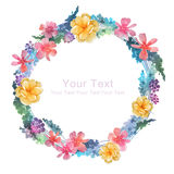 Watercolor illustration flower in simple background Royalty Free Stock Photos