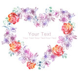 Watercolor illustration flower in simple background Royalty Free Stock Images