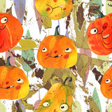 Watercolor illustration, halloween pattern Royalty Free Stock Photography