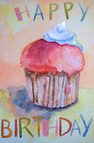 Watercolor Illustration Of Cake Royalty Free Stock Photography