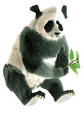 Watercolor illustration of a Panda Stock Photography