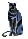 Watercolor illustration of a Panther Royalty Free Stock Images