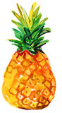 Watercolor illustration of pineapple Stock Photography