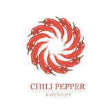 Watercolor illustration of red chili pepper Stock Photo