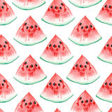 Watercolor illustration. seamless pattern of aquarelle watermelon Royalty Free Stock Photography