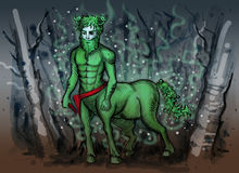 Watercolor illustration of slavic mythology creature Stock Photography