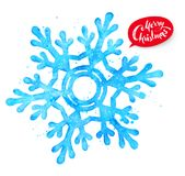 Christmas illustration of snowflake Stock Images