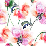 Watercolor illustration of Stylized Peony flower Royalty Free Stock Photo