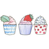 Watercolor illustration. Sweet life Stock Images