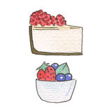Watercolor illustration. Sweet life Stock Photography
