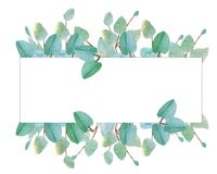 Watercolor illustration of tree branches royalty free illustration
