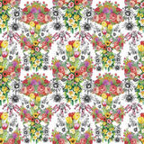 Watercolor illustration of Tulips flowers, seamless pattern Stock Photos