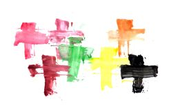 Watercolor illustrations drawn paints on white paper background. Watercolor illustrations drawn paints on white paper royalty free illustration