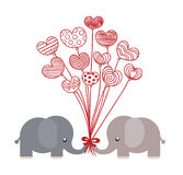 valentine elephants Royalty Free Stock Photo