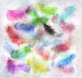 Watercolor Image Of  Feathers Royalty Free Stock Images