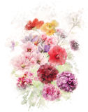 Watercolor Image Of Flowers Stock Photo