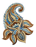 Watercolor indian ornament Royalty Free Stock Photos