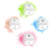 Watercolor infographics template Stock Images